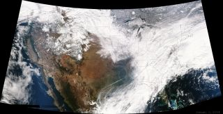Snow Storm Hercules Seen From Space