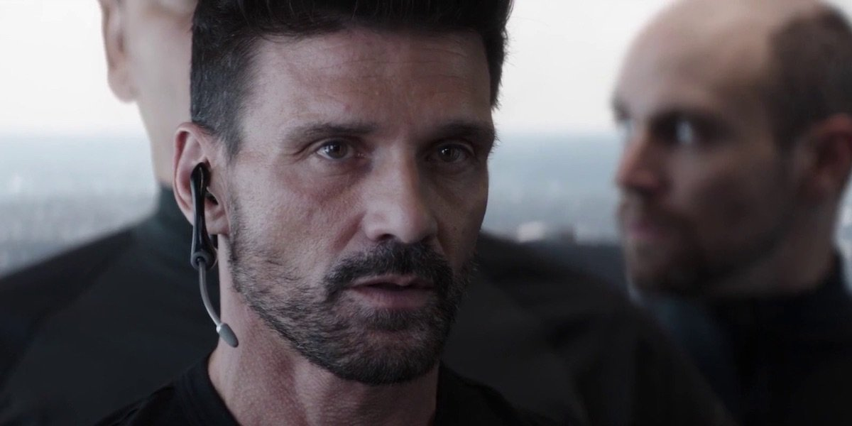 Frank Grillo's Brock Rumlow gazing intently in Avengers: Endgame