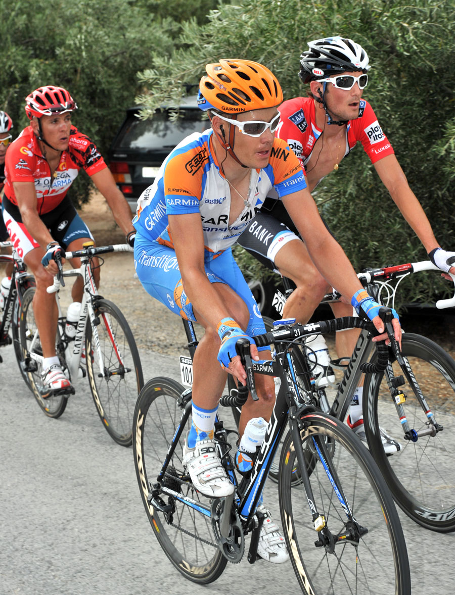 Tom Danielson, Frank Schleck and Philippe Gilbert, Vuelta a Espana 2010, stage four