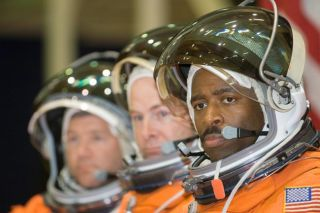 Astronaut Trio Primed for Space Station Construction