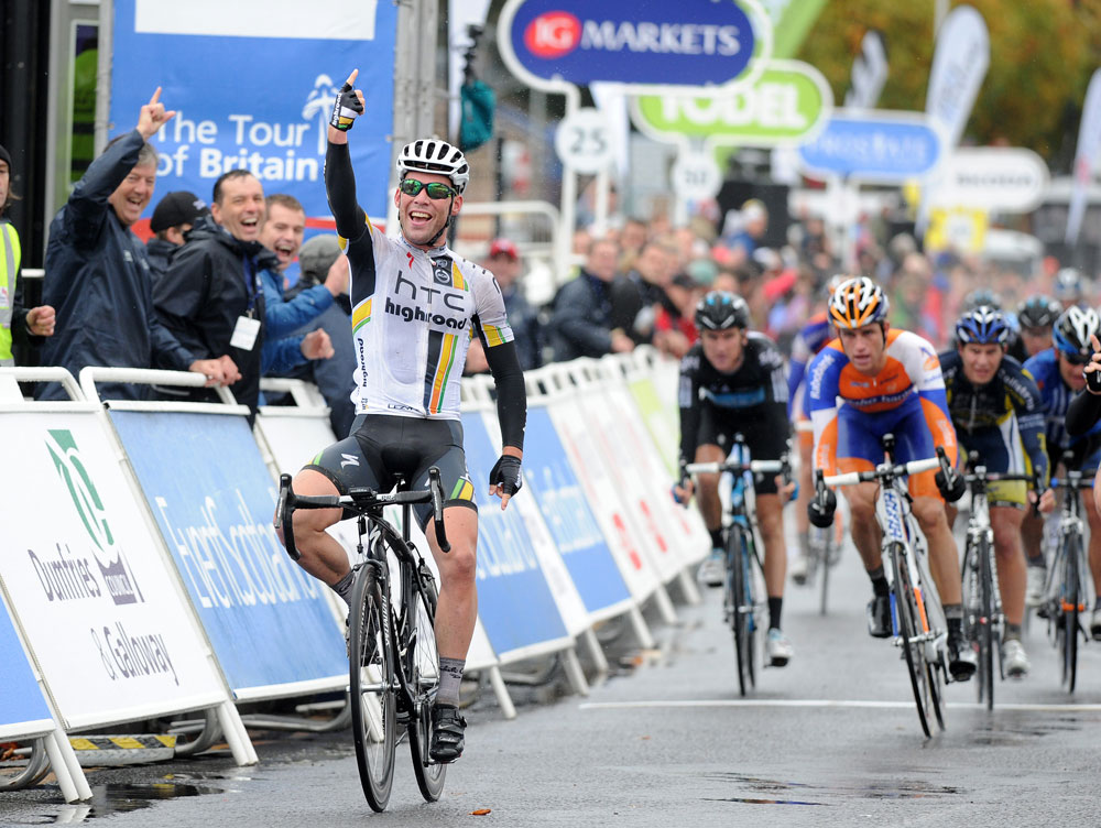 Mark Cavendish wins stage one, Tour of Britain 2011, stage one