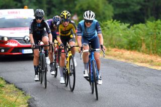Lucinda Brand (Trek-Segafredo) in the stage 3 breakaway at the Giro d'Italia Donnne