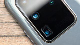 Galaxy S20 Ultra camera closeup