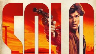 Han Solo appearing behind typography