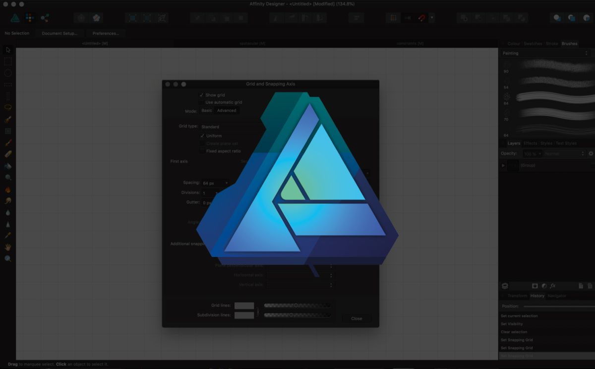 Affinity Designer: How to use Grids