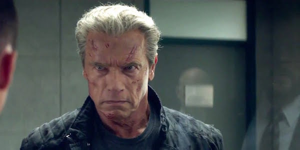 The aged Terminator from Genisys