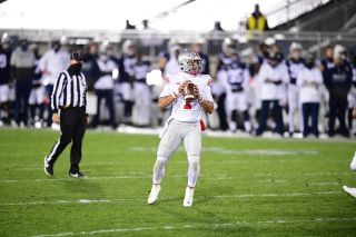 Ohio State quarterback Justin Fields during regular season game against Penn State