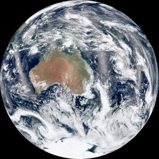 composite images using a number of swaths of the Earth's surface taken on January 4, 2012, by NASA's Suomi-NPP satellite.