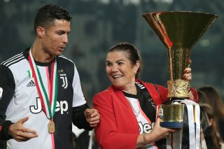 Cristiano Ronaldo and mother, Juventus Serie A title celebrations May 2019