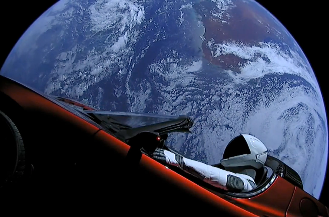 SpaceX's 'Starman' and His Tesla Roadster Are Now Beyond