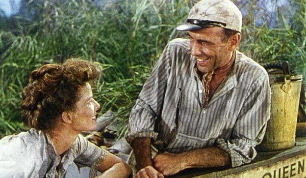 The African Queen Audrey Hepburn Humphrey Bogart boat chat