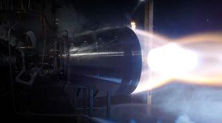 Blue Origin BE-4 engine test