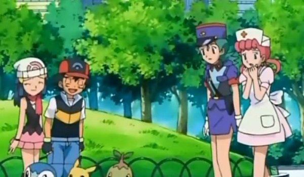 May Ash Officer Jenny Nurse Joy Pokemon