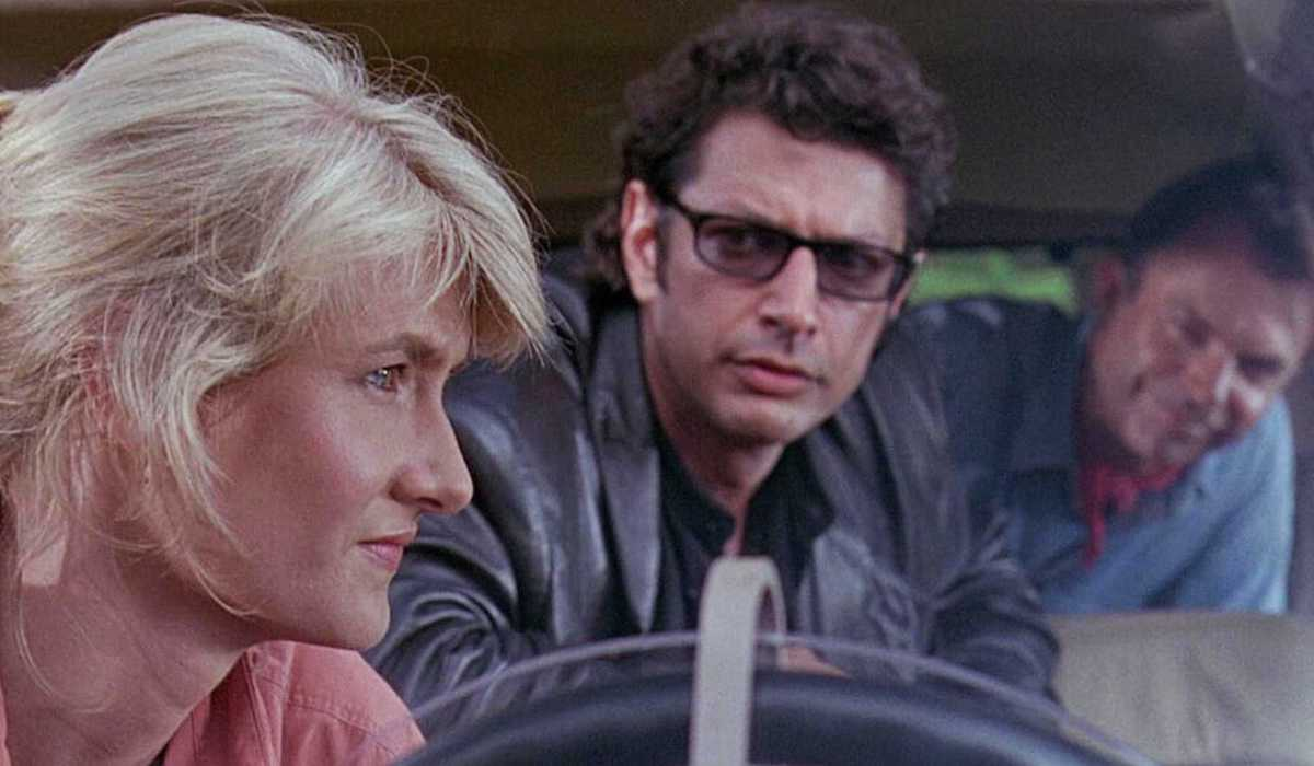 Laura Dern, Jeff Goldblum and Sam Neill in Jurassic Park