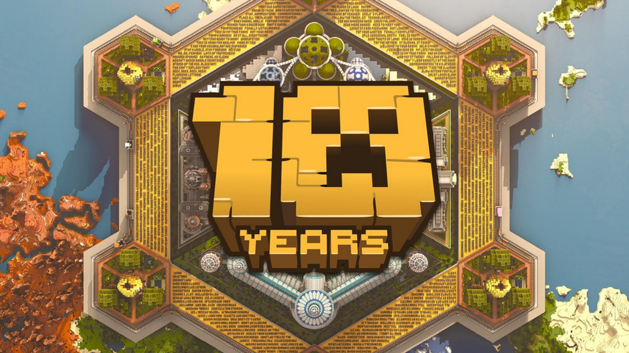 Minecraft's 10-year anniversary map is like a museum and