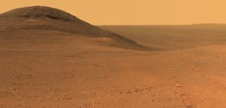Mars Rover Opportunity Photographs Endeavour Crater's Rim
