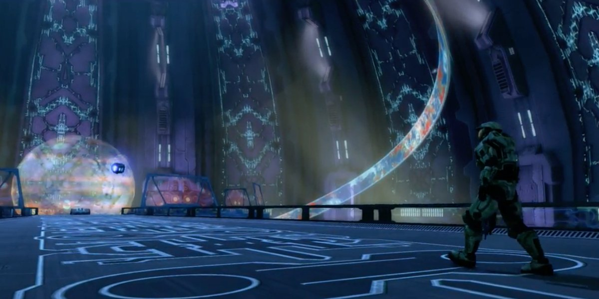 Inside the Halo ring in Halo: Combat Evolved
