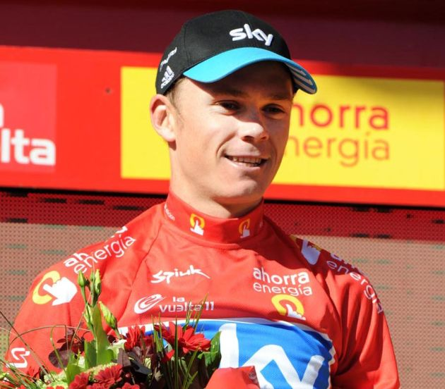 Chris Froome in race lead,  Vuelta a Espana 2011, stage 10 ITT