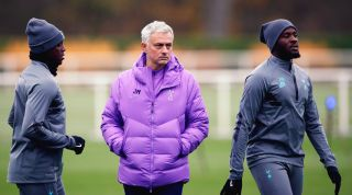 Jose Mourinho and Tanguy Ndombele