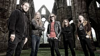A press shot of Opeth taken in 2016