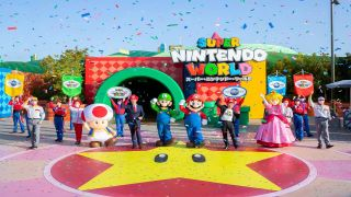 Super Nintendo World Osaka opening day, Miyamoto celebration