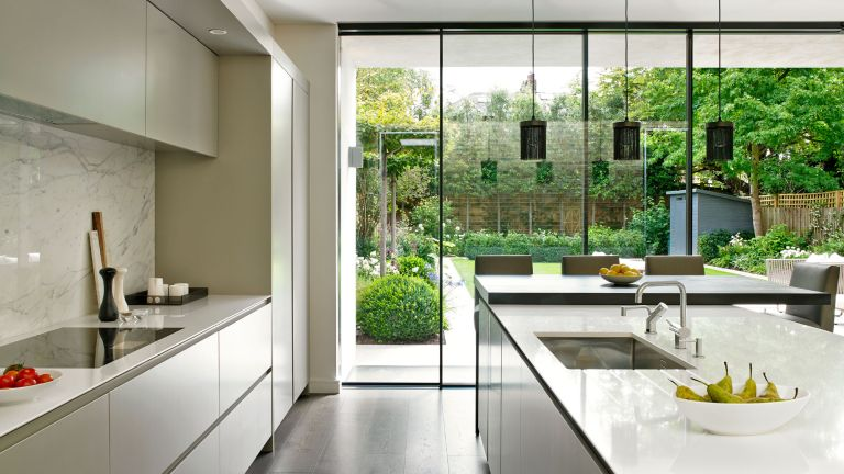 A Bright And Light Filled Kitchen Extension With Island