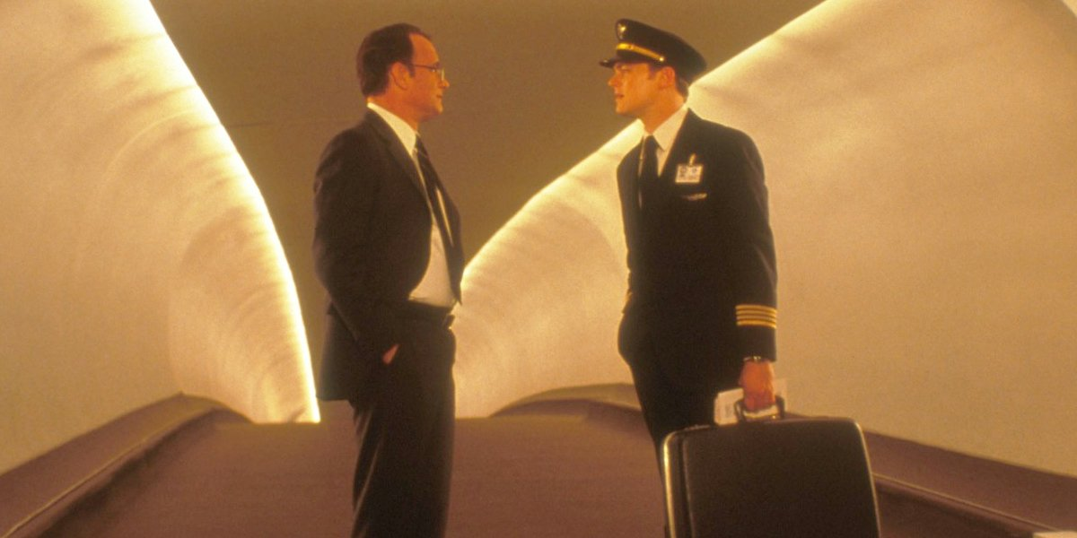 Tom Hanks and Leonardo DiCaprio in Catch Me If You Can