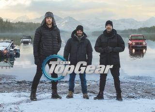 Top Gear 2021 presenters Freddie Flintoff, Chris Harris and Paddy McGuinness.