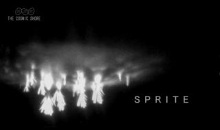 This still from a video released by NASA shows rare sprite lightning as seen by Japan's NHK Television.