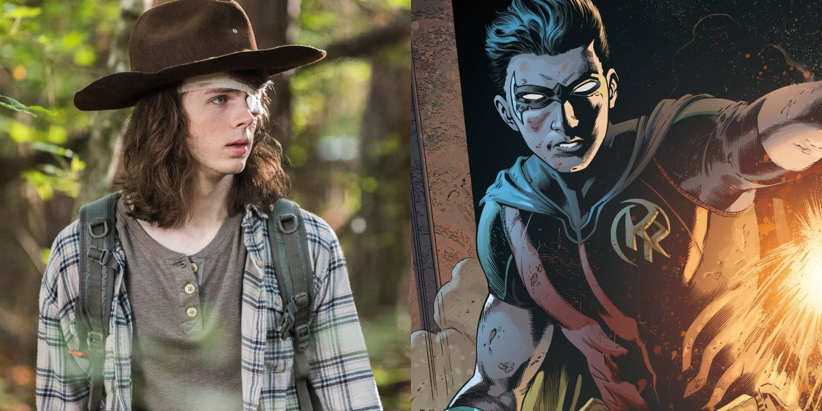 Chandler Riggs and Red Robin