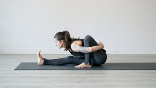 Woman in a yoga pose