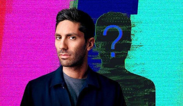 MTV's Catfish Nev Schulman looking mysterious in front of a colorful background