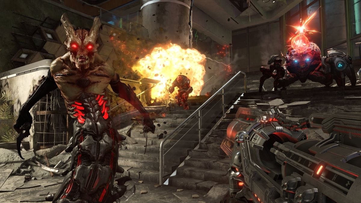 I think Doom Eternal's worlds are more artificial than ever, and that's a good thing