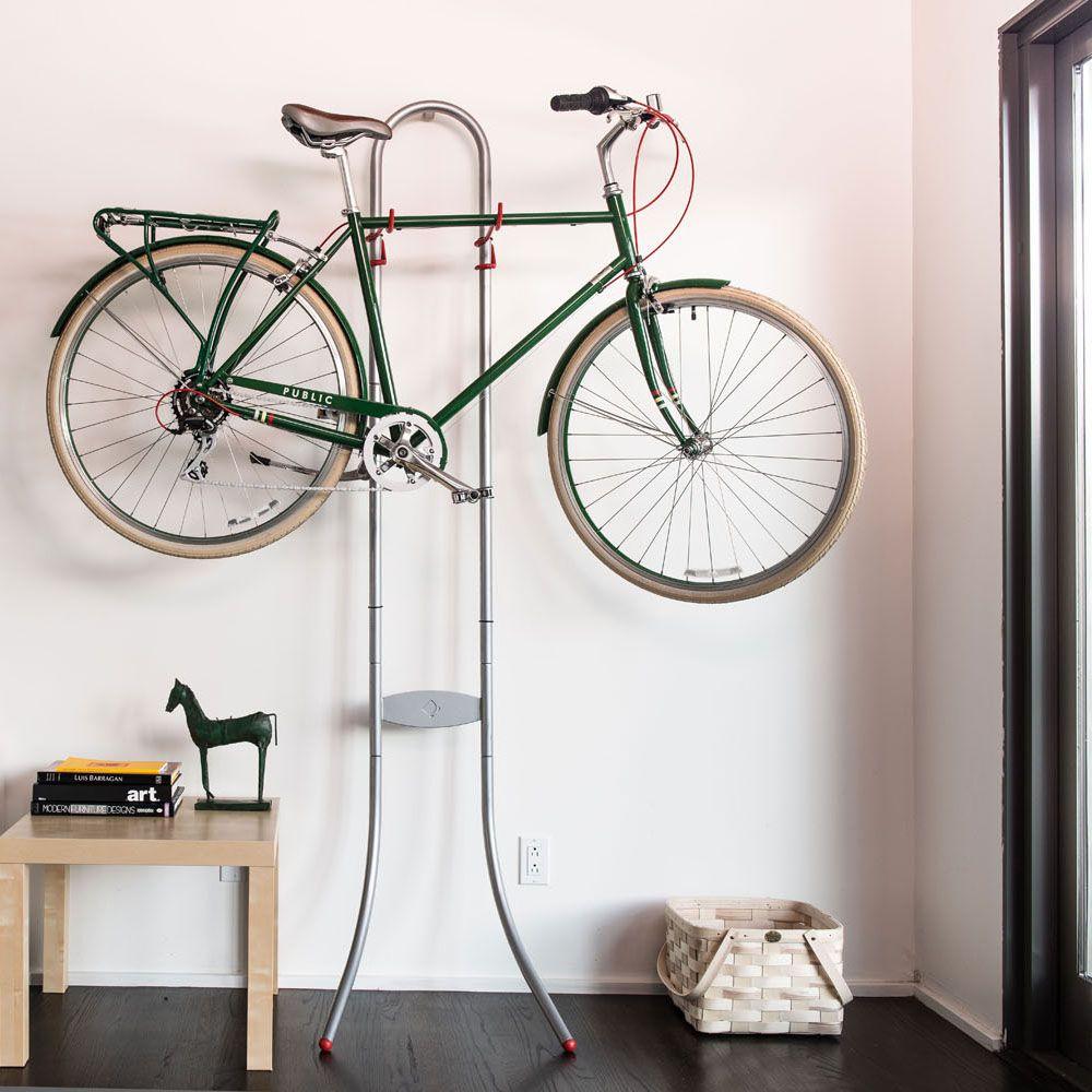 Smart bike wall storage