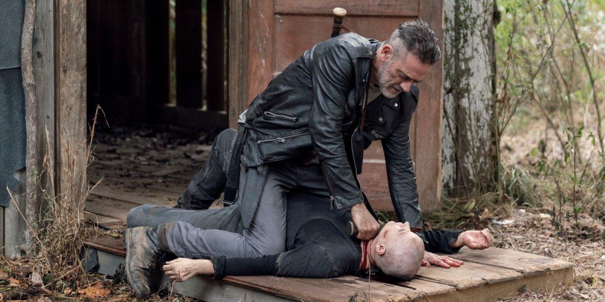 Negan killing Alpha in The Walking Dead.