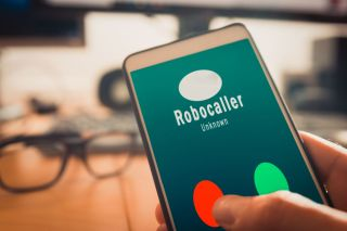 Robocall showing up on a smartphone.