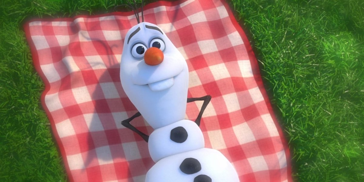 Olaf during In Summer music number 2013 Frozen