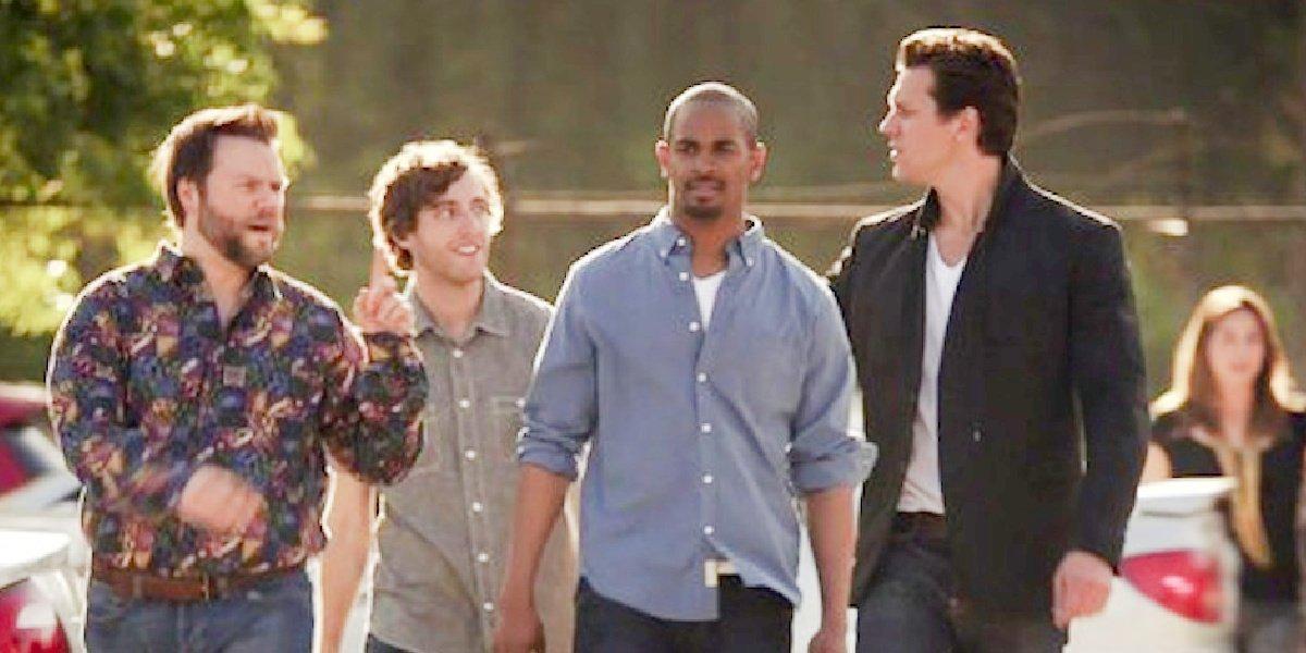 Damon Wayans alongside his co-stars in Someone Marry Barry.