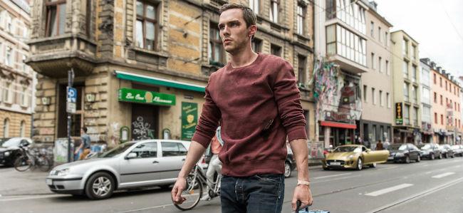 Collide Nicholas Hoult Walking Down Street