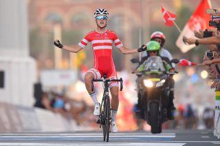 Jakob Egholm wins the 2016 UCI Road World Championships junior road race