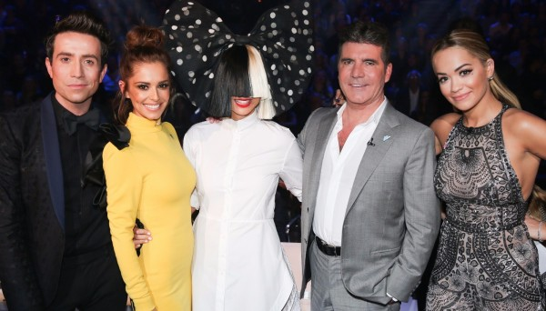 Sia and X Factor judges