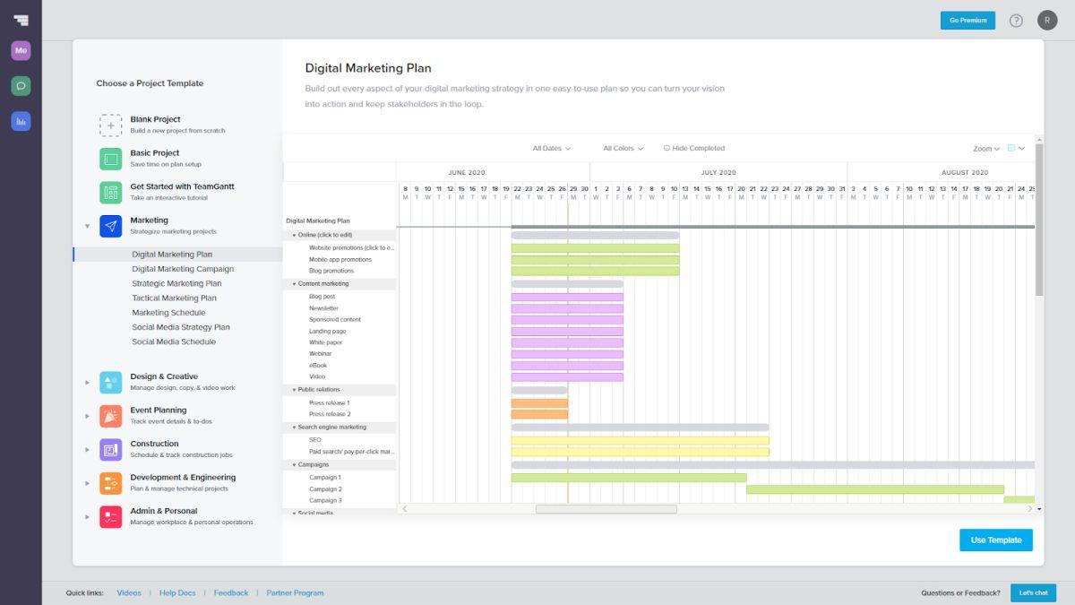 Best Gantt chart software 2020