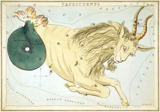 Capricornus the Sea-Goat Rises into the Autumn Night Sky