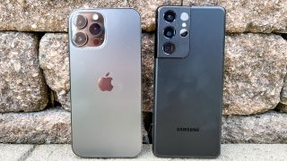 The iPhone 13 Pro Max and Samsung Galaxy S21 Ultra, two of the best phones