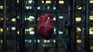 PlayStation advert - heart with wires attached