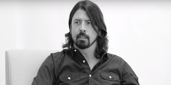 Dave Grohl Off Camera with Sam Jones