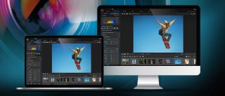 Best free photo editing software - a photo editing program showcased on an iMac and MacBook
