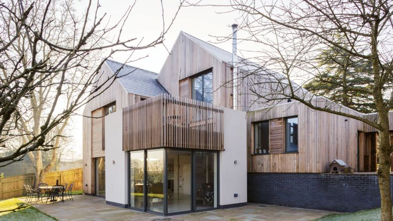 house with exterior cladding in timber by clearview architects