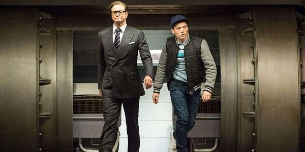 Colin Firth and Taron Egerton in Kingsman: The Secret Service