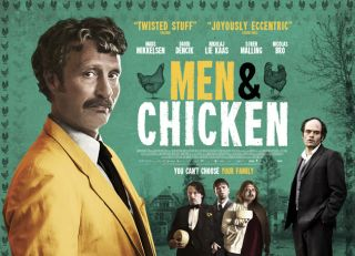 Men & Chicken Mads Mikkelsen quad poster